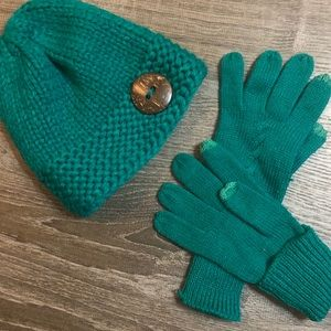 Teal Beanie & Matching Glove 🧤 Bundle